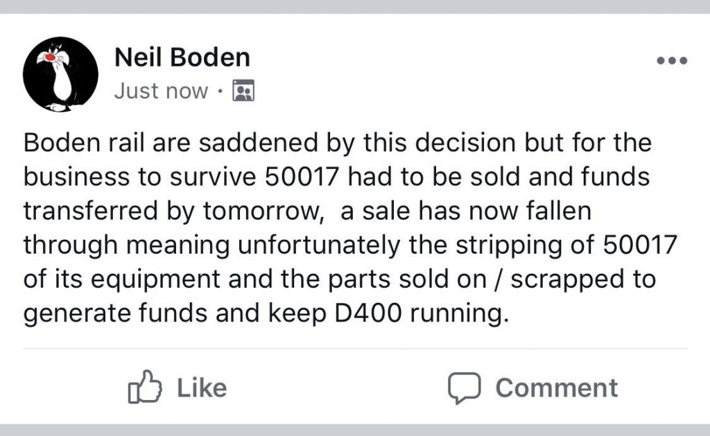 Boden Rail Statement 50017