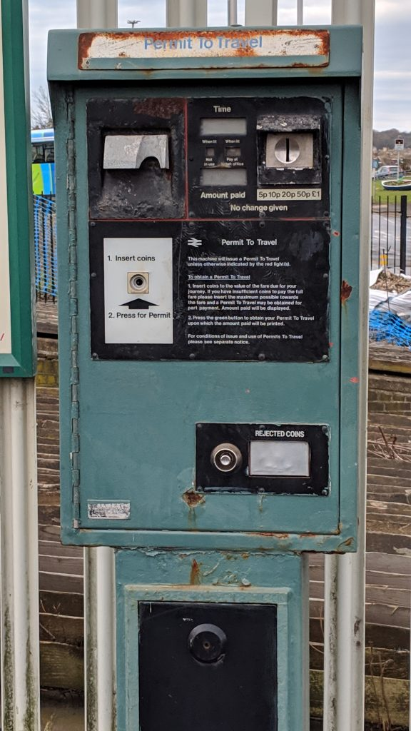 PERTIS railway ticket machine Newhaven