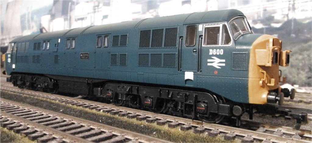 D600 Warship Locomotive Model Photograph
